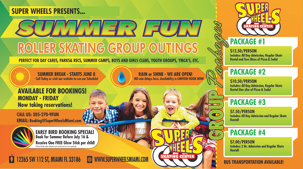 GROUP SUMMER BOOKINGS