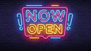 now open 2020